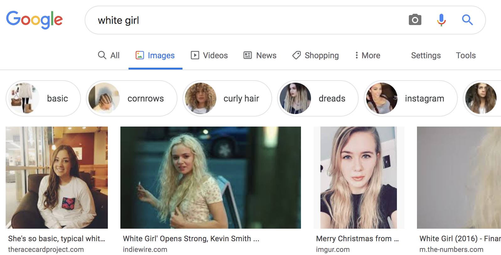 "Google Image search for string ""white girl"""